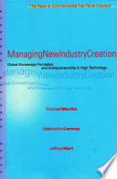 Managing New Industry Creation Book PDF