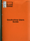GeoArchive Users Guide