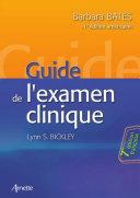 Pdf Guide de l'examen clinique - nouvelle édition 2014 Telecharger