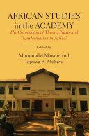 African Studies in the Academy Pdf/ePub eBook
