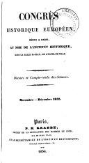Congrès Historique Réuni À Paris