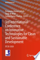 3rd International Conference on Innovative Technologies for Clean and Sustainable Development Book