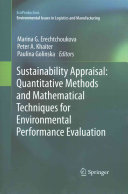 Sustainability Appraisal  Quantitative Methods and Mathematical Techniques for Environmental Performance Evaluation