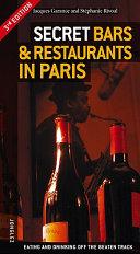 Secret Bars   Restaurants in Paris