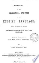 Exposition of the grammatical structure of the English language  Abridged by the author