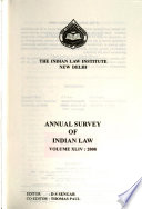 Annual Survey of Indian Law