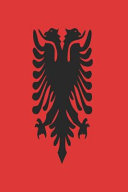 Albanian Flag Journal  Blank Lined Diary