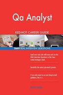 Qa Analyst Red Hot Career Guide  2669 Real Interview Questions