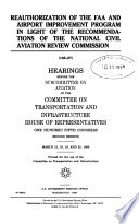Reauthorization of the FAA and Airport Improvement Program in Light of the Recommendations of the National Civil Aviation Review Commission