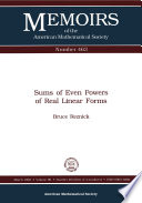 Sum of Even Powers of Real Linear Forms