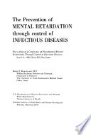 The Prevention of Mental Retardation Through Control of Infectious Diseases