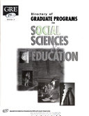 Directory Of Graduate Programs In Social Sciences Education Book