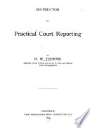 Instructor In Practical Court Reporting
