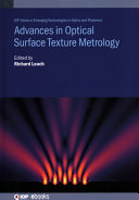 Advances in Optical Surface Texture Metrology