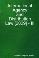 International Agency and Distribution Law  2009    III