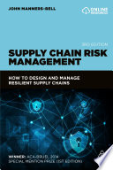 Supply Chain Risk Management Book PDF