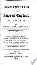 Commentaries on the Laws of England  : In Four Books , Band 3