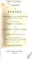 Studies in Poetry