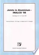 Joints In Aluminium Book PDF