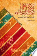 Research Methods in Clinical Psychology Book