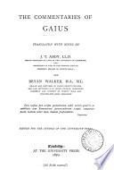 The Commentaries of Gaius