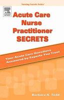 Acute Care Nurse Practitioner Secrets Book