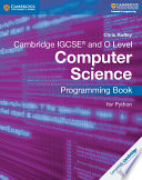 Books - Cambridge Igcse� Computer Science Programming Book For Python | ISBN 9781316617823