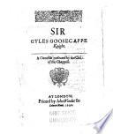 Sir Gyles Goosecappe Knight Book PDF