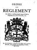 Ordre en reglement over de desolate en insolvente boedels binnen de Stadt en Schependom van Zutphen, ...