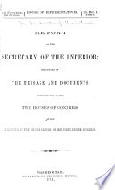 Annual Reports of the Department of the Interior ... [with Accompanying Documents]