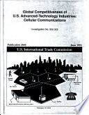Global Competitiveness of U.S. Advanced-Technology Industries: Cellular Communications