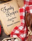 Blank Cookbook  Family Recipes  Ingredients for Treasured Memories