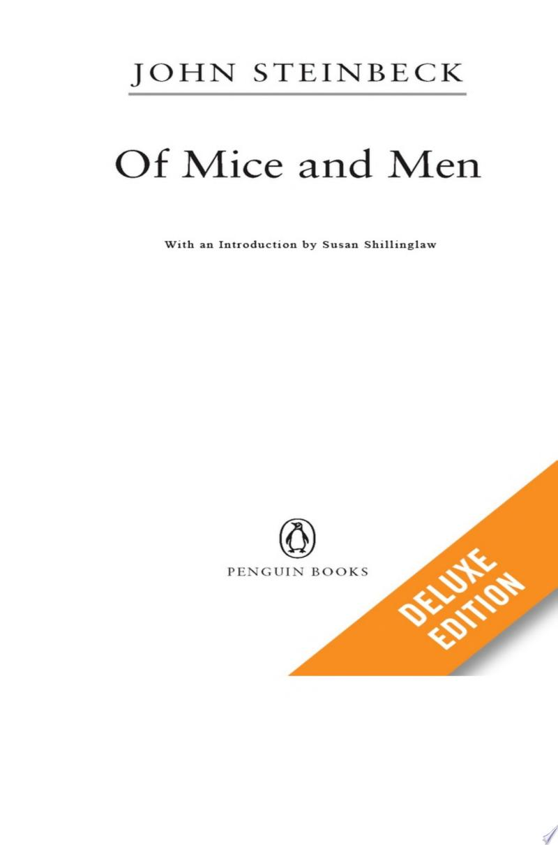 Of Mice and Men: Teacher's Deluxe Edition banner backdrop