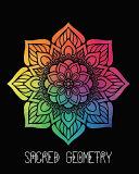 Sacred Geometry  Rainbow Focus Mandala Art Journal Cover  Cornell Lined Notebook   Geometric Design for Yoga  Meditation  Dream Diary O