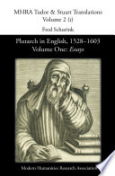 Plutarch in English  1528   1603  Volume One  Essays Book PDF