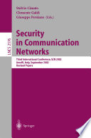 Security in Communication Networks Book