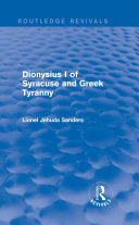 Dionysius I of Syracuse and Greek Tyranny (Routledge Revivals)