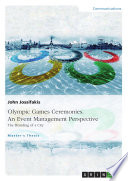 Olympic Games Ceremonies An Event Management Perspective