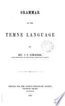 Grammar of the Temne language