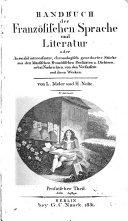 Handbuch der französischen sprache und literatur