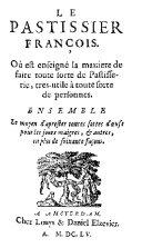 Pdf Le pastissier françois Telecharger