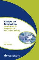 Essays on Mediation