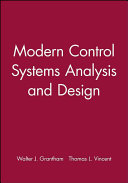 Modern Control Systems Analysis And Design Walter Jervis Grantham Thomas L Vincent Google Books