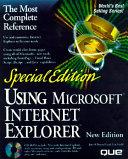 Using Microsoft Internet Explorer 4