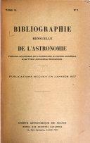 Bibliographie mensuelle de l'astronomie