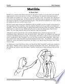 Roald Dahl Literature Activities  Matilda