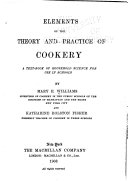 Elements of the Theory and Practice of Cookery
