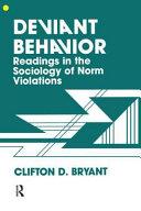 Pdf Deviant Behavior
