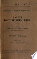 Magyar történelmi okmánytár Londoni könyv- és levéltárakból /