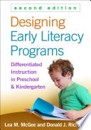 Designing Early Literacy Programs Book